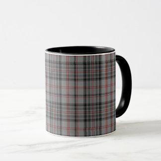 Taupe Grey Red Black Small Tartan Plaid Mug