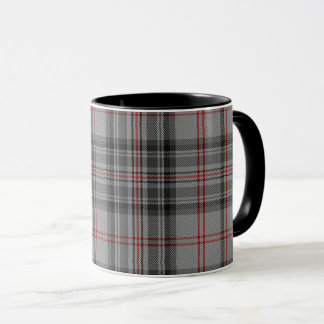 Taupe Grey Red Black Tartan Plaid Mug