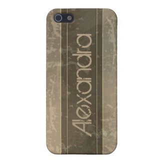Taupe Grunge Marble Distressed Case For The iPhone 5