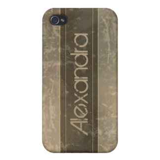 Taupe Grunge Marble Distressed iPhone 4/4S Covers