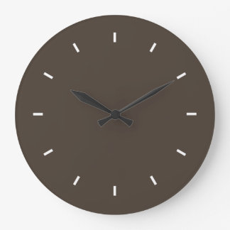 Taupe High Quality Color Matched Large Clock