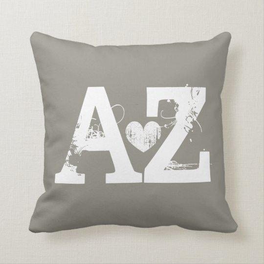 Taupe Home sweet home Arizona heart throw pillow