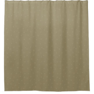 Taupe Pawprint Shower Curtain