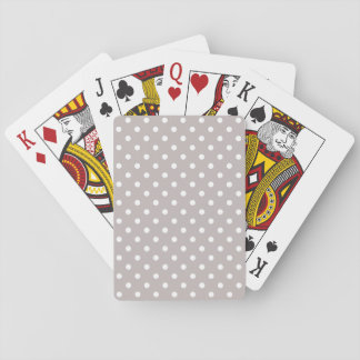 Taupe Polka Dotted Basic Playing Cards