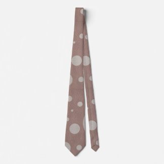 Taupe Scattered Spots on Mink Leather Texture Tie