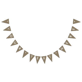 Taupe Solid Color Customize It Bunting Flags