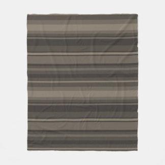 Taupe stripes fleece blanket