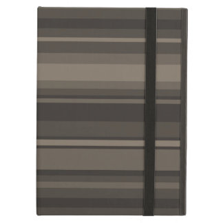 Taupe stripes iPad air cases