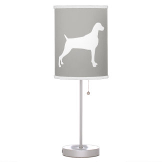 TAUPE WEIMARANER SILHOUETTE TABLE LAMP