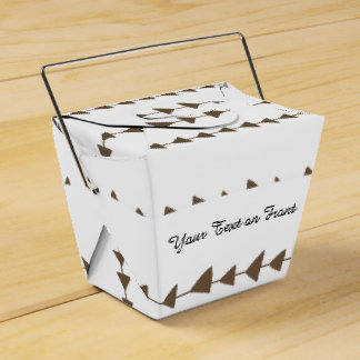 Taupe White Aztec Arrows Pattern Wedding Favor Box