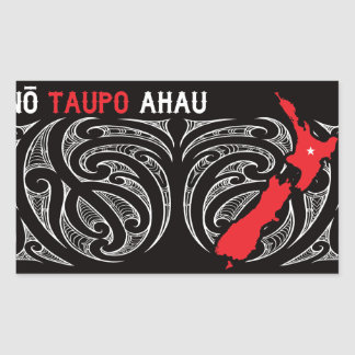 Taupo Aotearoa Map Pin Drop Sticker
