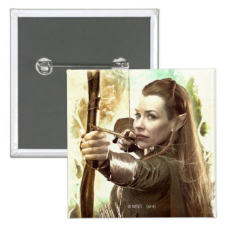 TAURIEL™ Daughter of Mirkwood 2 Inch Square Button