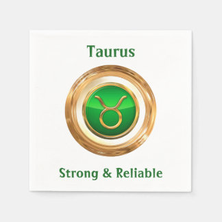 Taurus Astrological Sign Disposable Napkins