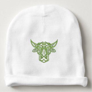 Taurus Bull Celtic Knot Baby Beanie