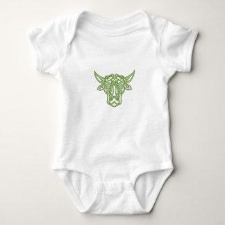 Taurus Bull Celtic Knot Baby Bodysuit