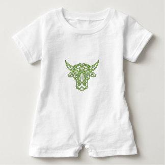 Taurus Bull Celtic Knot Baby Romper