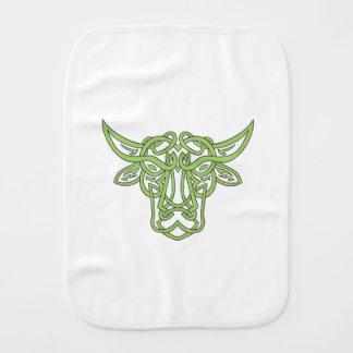 Taurus Bull Celtic Knot Burp Cloth