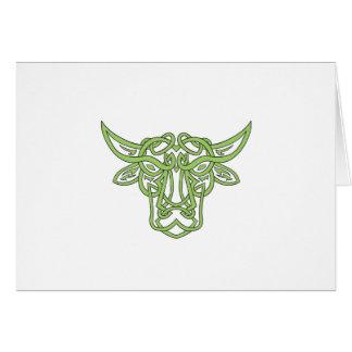Taurus Bull Celtic Knot Card
