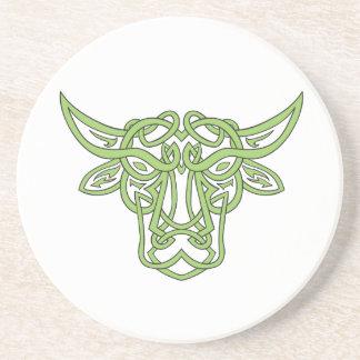 Taurus Bull Celtic Knot Coaster