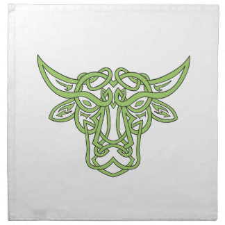Taurus Bull Celtic Knot Napkin