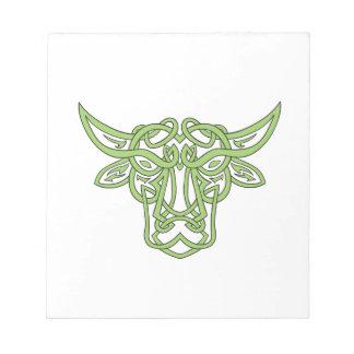 Taurus Bull Celtic Knot Notepad
