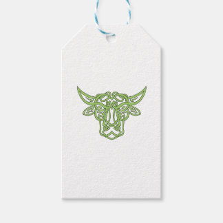 Taurus Bull Celtic Knot Pack Of Gift Tags
