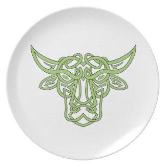 Taurus Bull Celtic Knot Plate