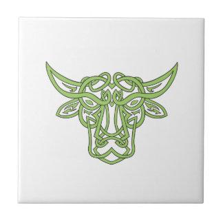 Taurus Bull Celtic Knot Tile