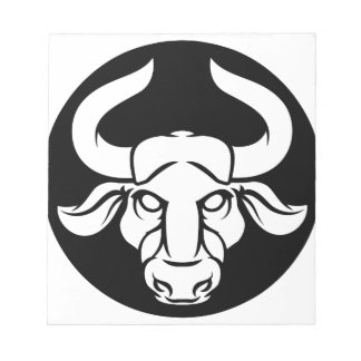 Taurus Bull Zodiac Astrology Sign Notepad