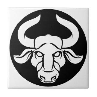 Taurus Bull Zodiac Astrology Sign Tile