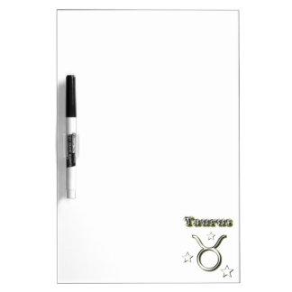 Taurus chrome symbol dry erase board