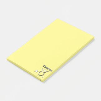 Taurus chrome symbol post-it notes