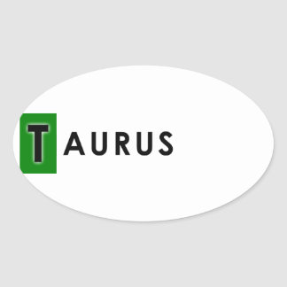TAURUS COLOR OVAL STICKER