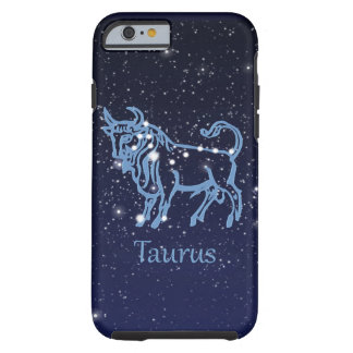 Taurus Constellation and Zodiac Sign with Stars Tough iPhone 6 Case