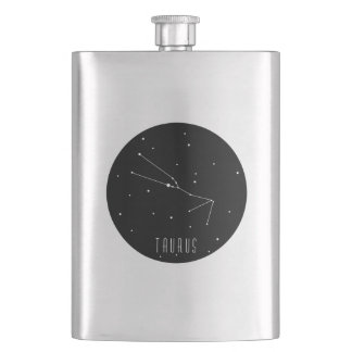 Taurus Constellation Hip Flask