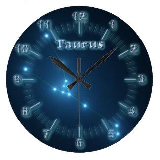 Taurus constellation large clock