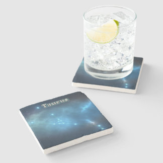 Taurus constellation stone coaster