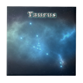 Taurus constellation tile