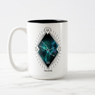 Taurus Constellation & Zodiac Symbol Two-Tone Coffee Mug