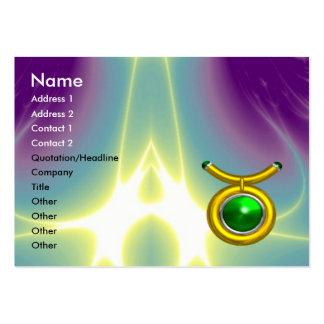 TAURUS Emerald yellow black green Business Cards