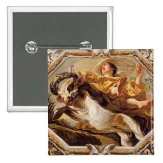 Taurus, from the Signs of the Zodiac 2 Inch Square Button
