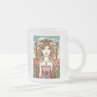 Taurus Frosted Glass Coffee Mug