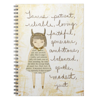 Taurus girl notebook