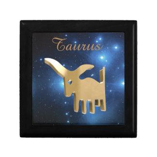 Taurus golden sign gift box