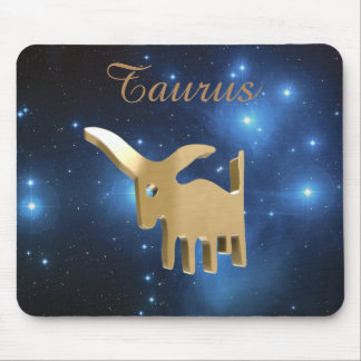 Taurus golden sign mouse pad