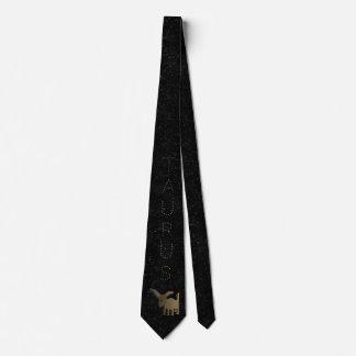 Taurus golden sign tie