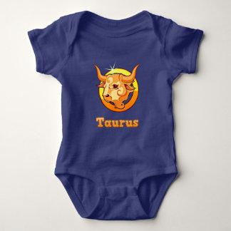 Taurus illustration baby bodysuit