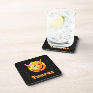Taurus illustration coaster