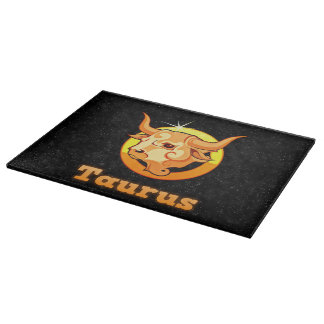 Taurus illustration cutting board