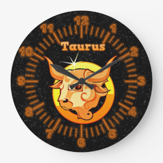 Taurus illustration large clock